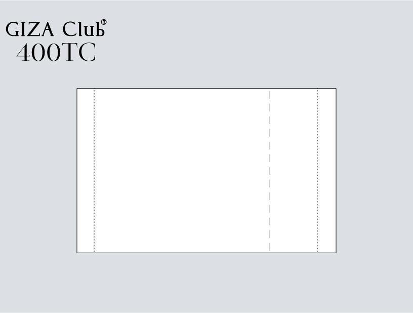 エジプト超長綿 GIZA Club 400TC ピロケース/左右額縁
