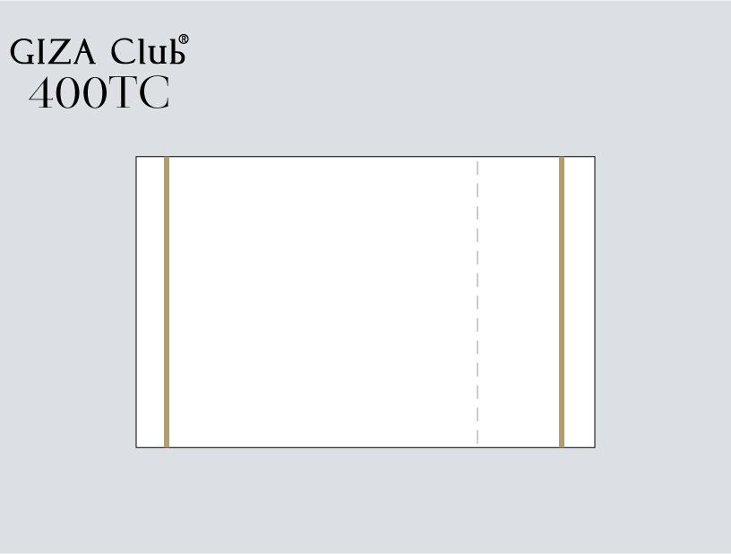 エジプト超長綿 GIZA Club 400TC ピロケース/左右額縁+刺繍