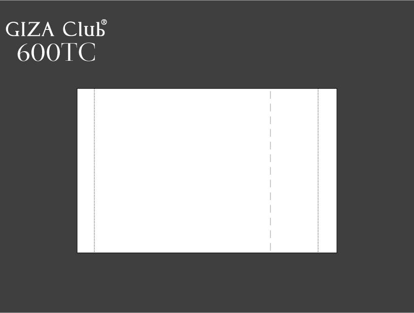 エジプト超長綿 GIZA Club 600TC ピロケース/左右額縁
