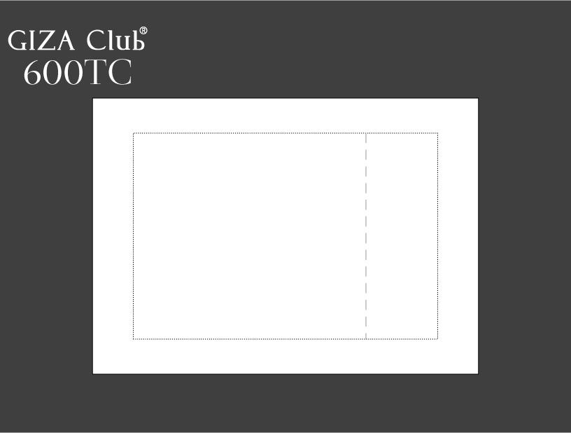 エジプト超長綿 GIZA Club 600TC ピロケース/額縁