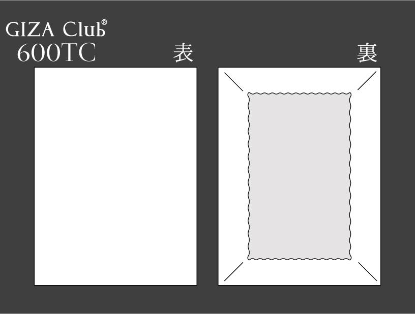エジプト超長綿 GIZA Club 600TC ボックスシーツ