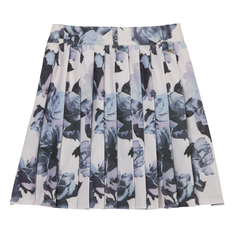 ROSE FLOWERプリーツスカート
