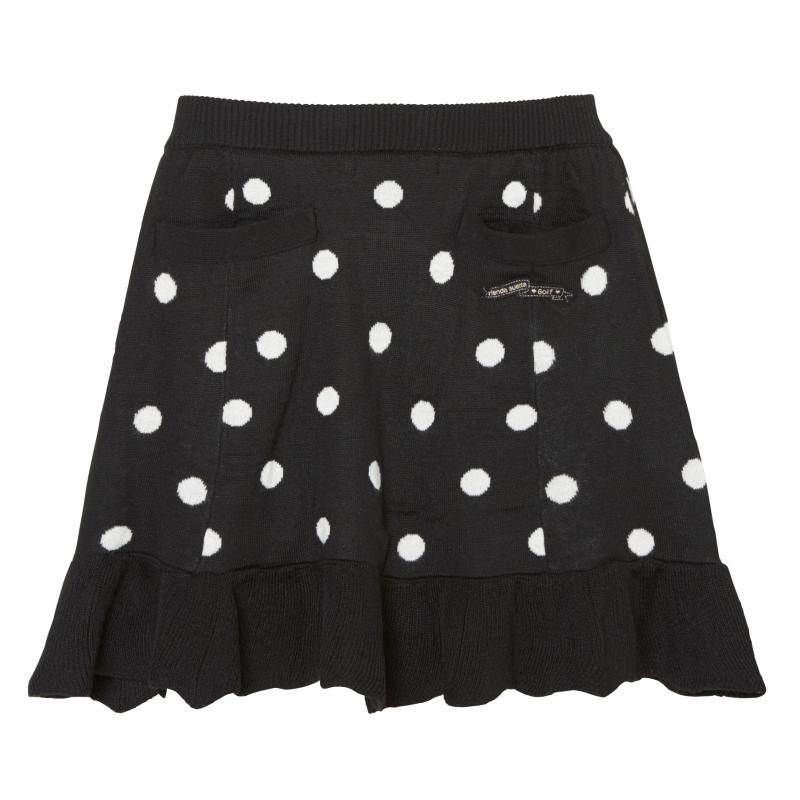 ドットニットスカート
