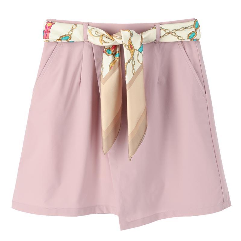 スカーフ付きラップスカート