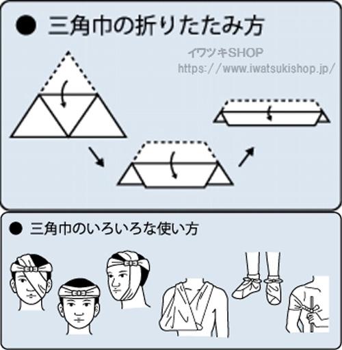 すぐ使える三角巾(大)吊下型 105×105×150cm
