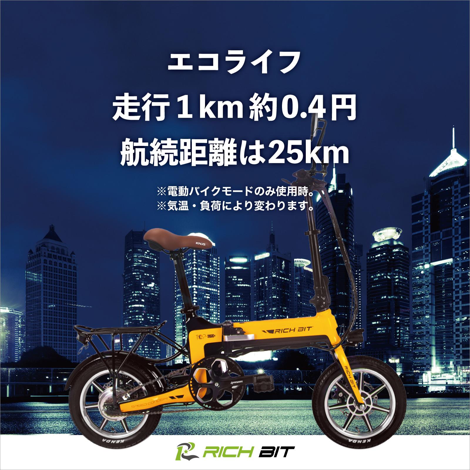 RICHBIT Smart eBike TOP619 公道仕様 電動バイク 電動スクーター 原付 折り畳み 公道 街乗り 通勤 通学 配達 デリバリー