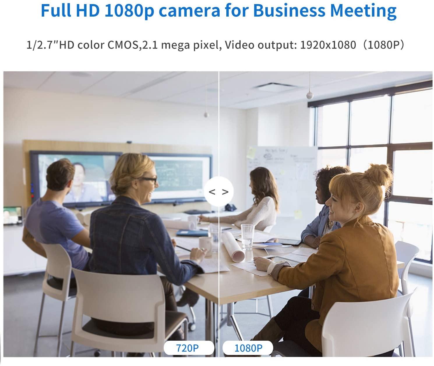 Tenveo TEVO-NV10U web会議 カメラ 10倍光学ズーム 1080p skype会議用 高画質 自動フォーカス usbカメラ 広角 PTZ ウェブカメラ VA3000シリーズ