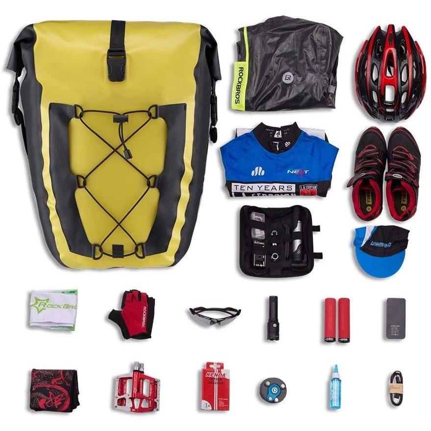 【RICHBIT純正製品アクセサリー】RICHBIT TOP016 パニアバッグ リアバッグ サイドバッグ 防水 大容量 軽い バイク 収納バック 携行バッグ 汎用可