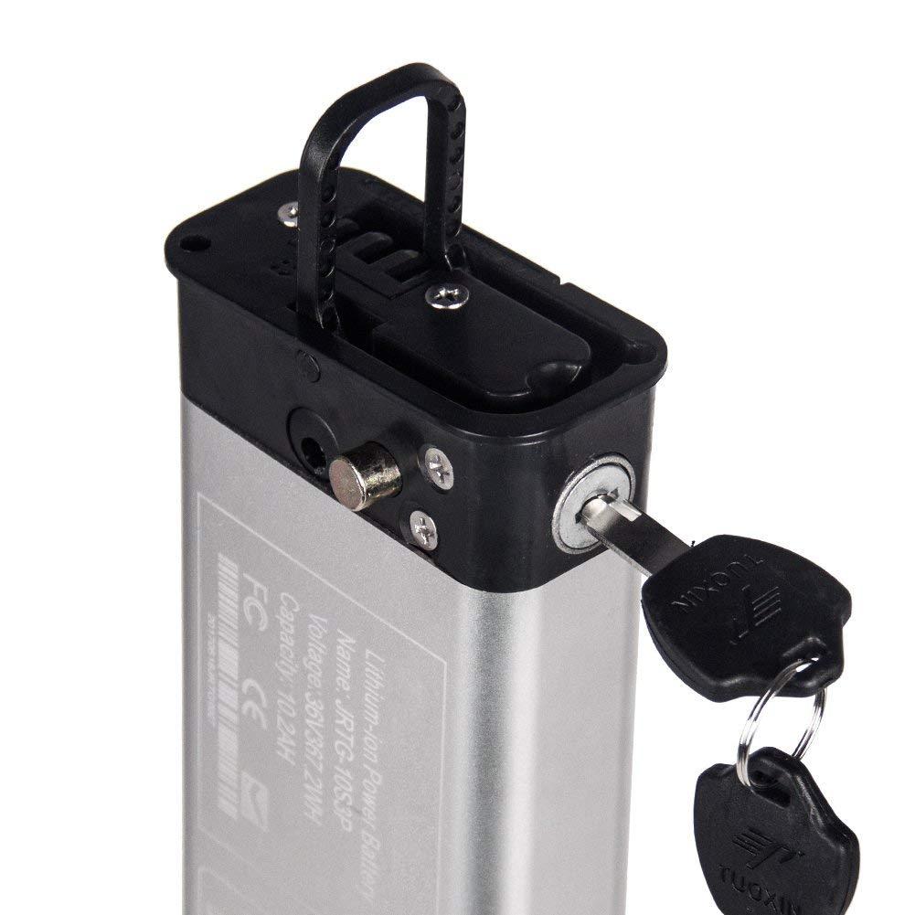【安心のPSE適合製品】RICH BIT TOP619専用リチウムイオンバッテリー 大容量36V*9.6Ah 電動自転車専用 TOP618兼用可
