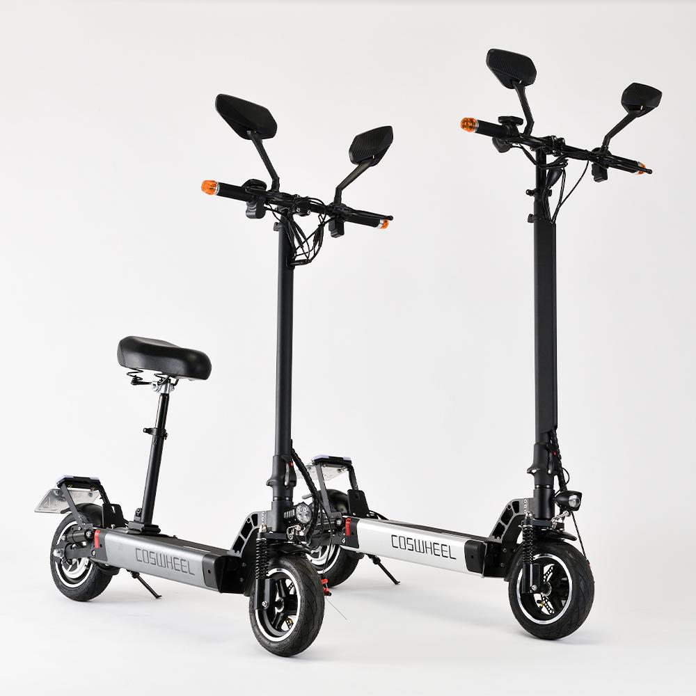 専用サドル・次世代型折り畳み式電動キックボード COSWHEEL EV Scooter 公道仕様2WAY乗りEVスクーター 専用サドル