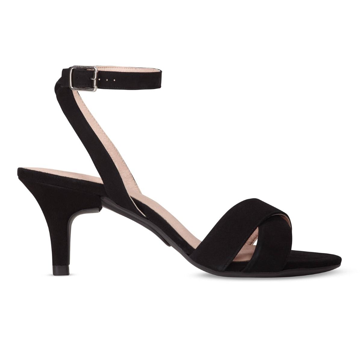 N°4 Black Suede / Stiletto 7cm