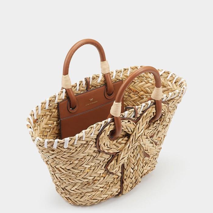 【予約商品】かごバッグ Natural Seagrass リボンモチーフ 台形 カゴバッグ バッグ レディースバッグ トートバッグ型 大人可愛い 夏らしいトレンド感を取り入れた大人女子のためのアイテムを展開 [1色展開]