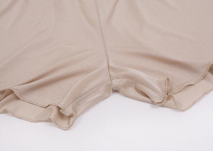 【シルク インナー】レディース インナー シルクキュロット ペチコートパンツ 軽い絹100%のシルク パンツ 3分丈 ズボン下着 シルク100% silk inner ladies レディースインナー 絹 肌着 [3色展開]