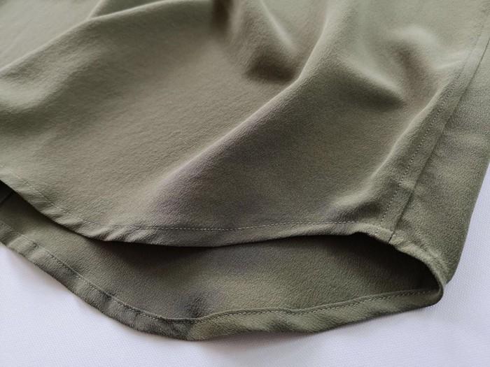 秋新作 シルク ミリタリーシャツ  レディース シルクブラウス シルク100% フラップポケット  トップス シャツ ワーク風 きれい目 上品[1色展開]