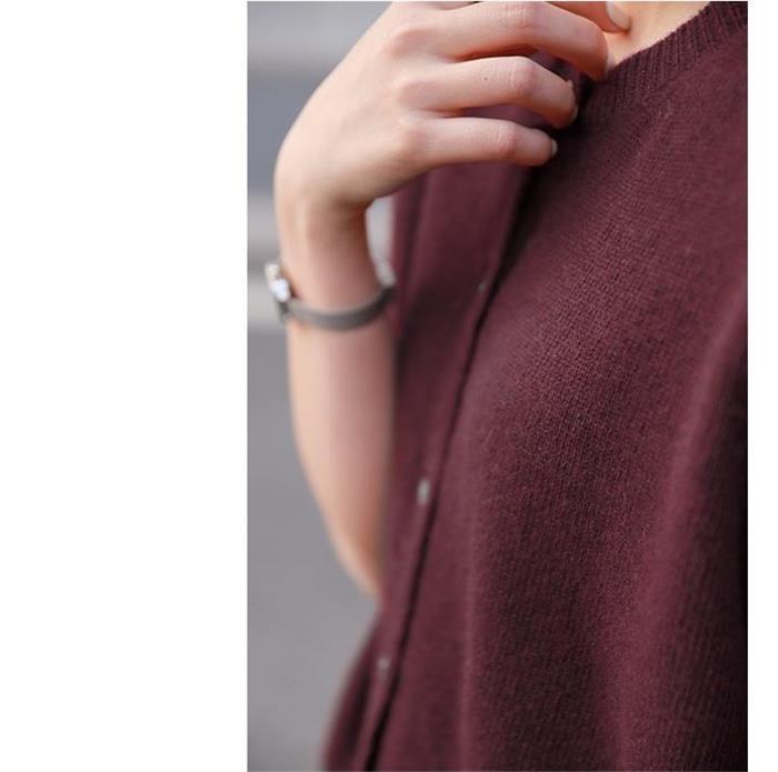 ニット レディース  春カーディガン  寒い日羽織リ ウール100% 暖かい 春気分  5部袖 フェミニンな雰囲気 ノーカラー オシャレ[5色展開]