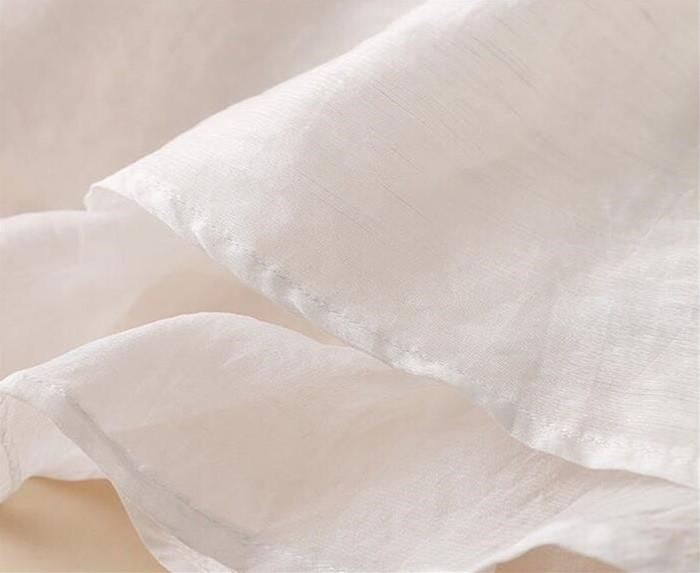 【リネン 特集】レディース リネンブラウス トップス プルオーバー ナチュラル リネン100% ロマンチック ふんわりブラウス クルーネック 初夏軽やかゆるトップス 大人カワイ半袖[2色展開]
