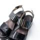 「Luca grossi ルカグロッシ」メタリックデザインサンダル LUCA C456S-TS
