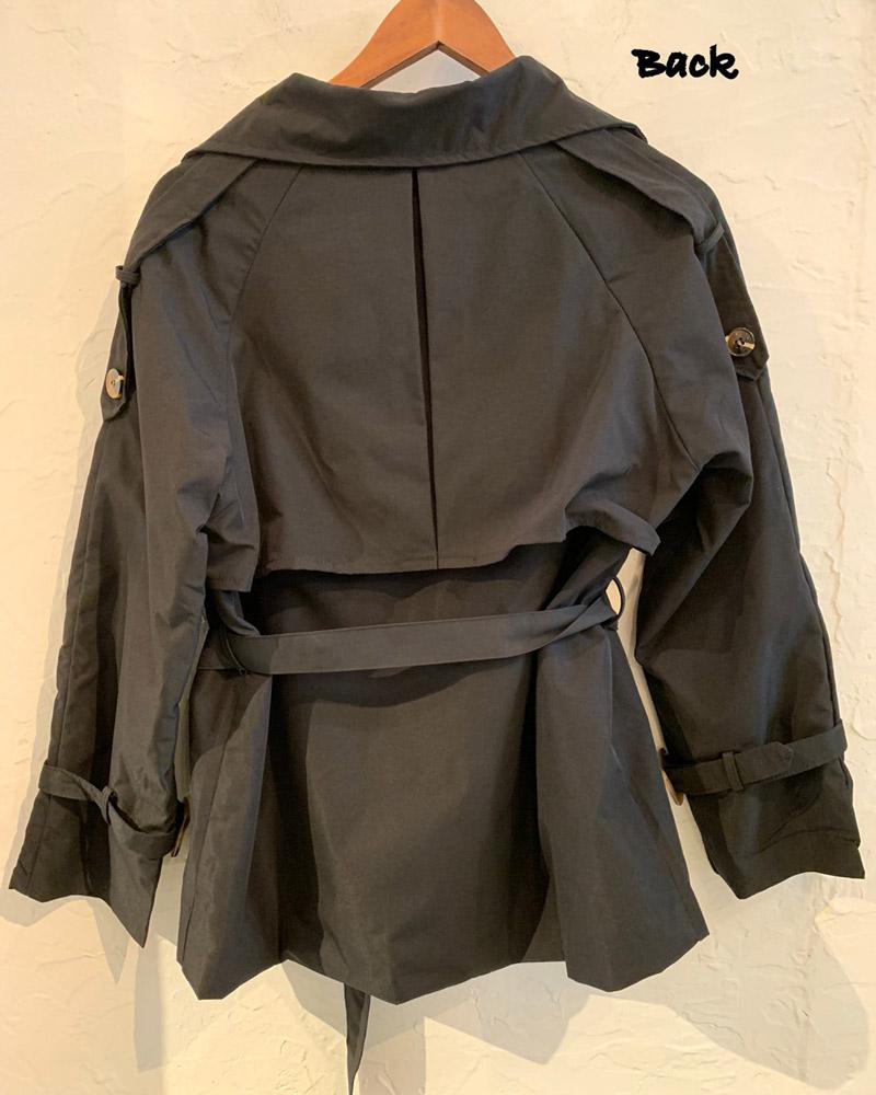 ショートトレンチ ジャケットコート