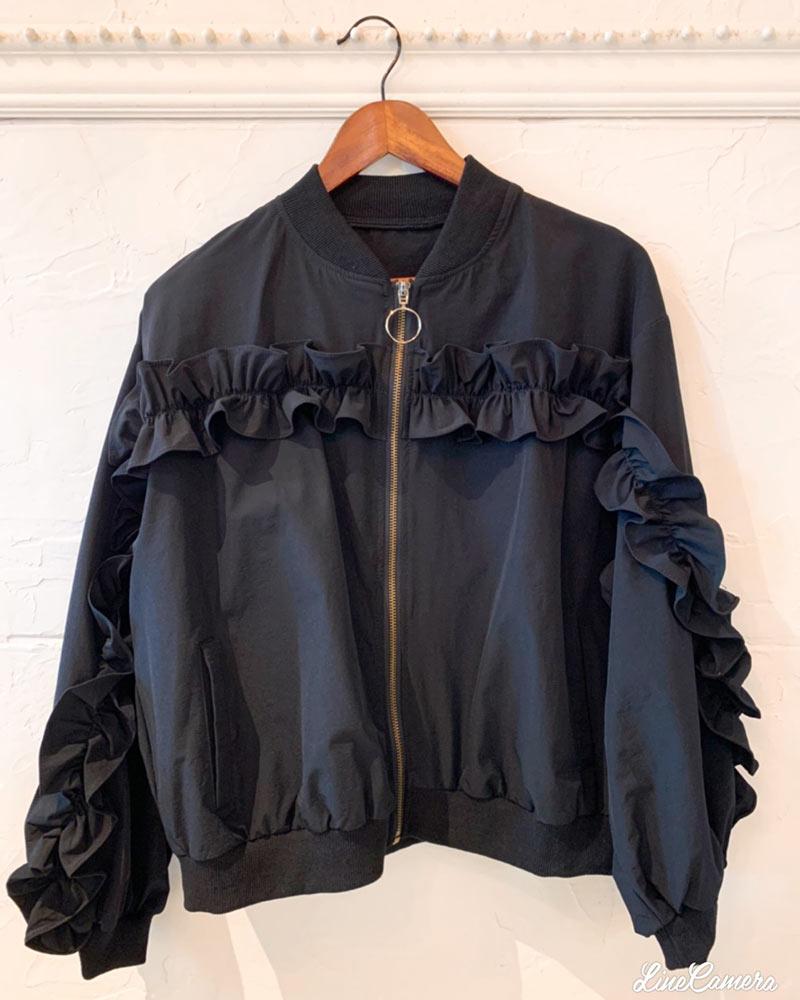 FrontフリルMA1ジャケット