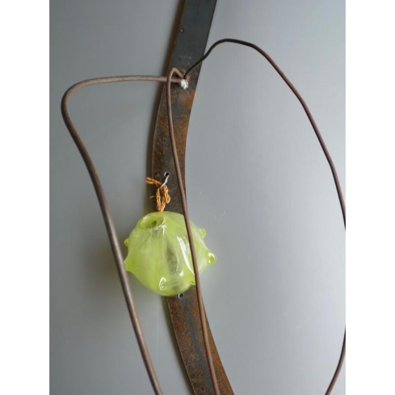 木村俊江/作 「鉄とガラスの花入れ2」