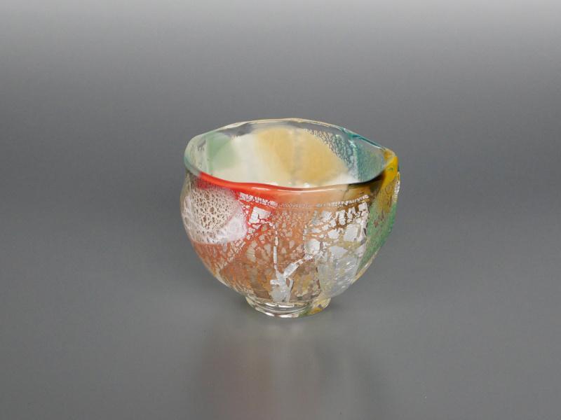 木村俊江/作 ガラス<br> 華茶碗 一点もの