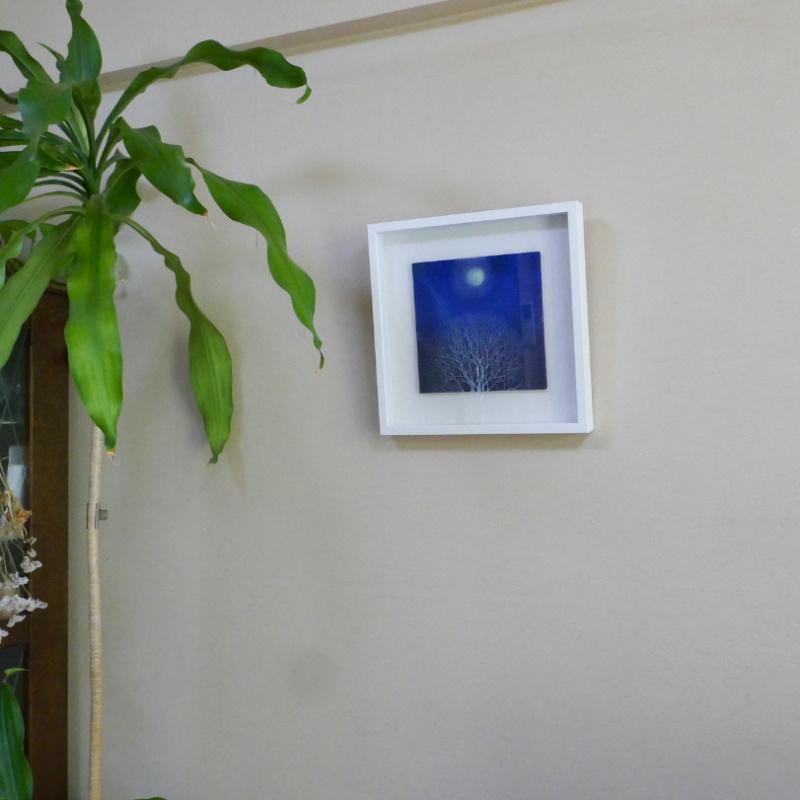梅宮順子/日本画<br> 『木と月暈』(原画)2021'