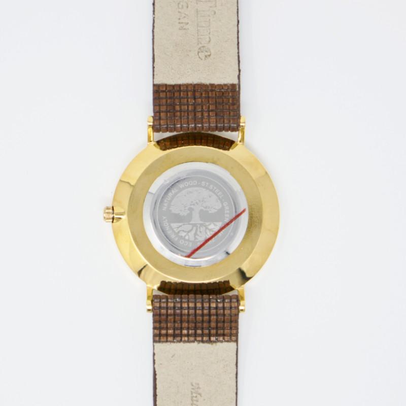 GreenTime/グリーンタイム<br> Vegan ZE046C<br> 木製腕時計(ユニセックス)