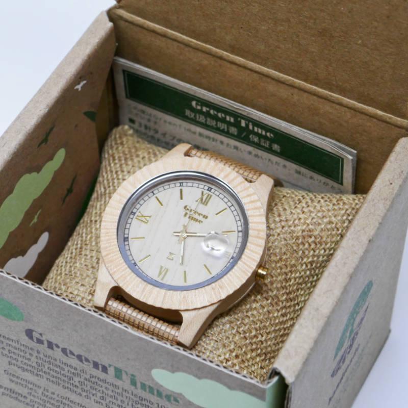 GreenTime/グリーンタイム<br>  Vegan ZW010E <br> 木製腕時計(メンズ・デイジャスト)
