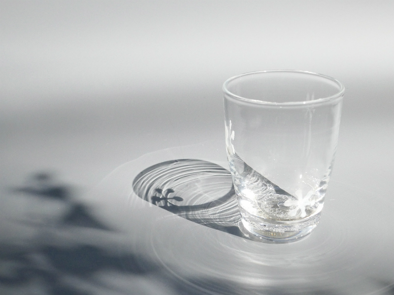 木村俊江/作 ガラス<br> 雪文グラス