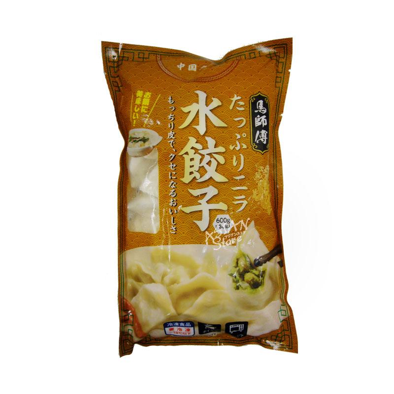 【冷凍便】たっぷりニラ水餃子/馬師父韮菜水餃子600g(約30個)