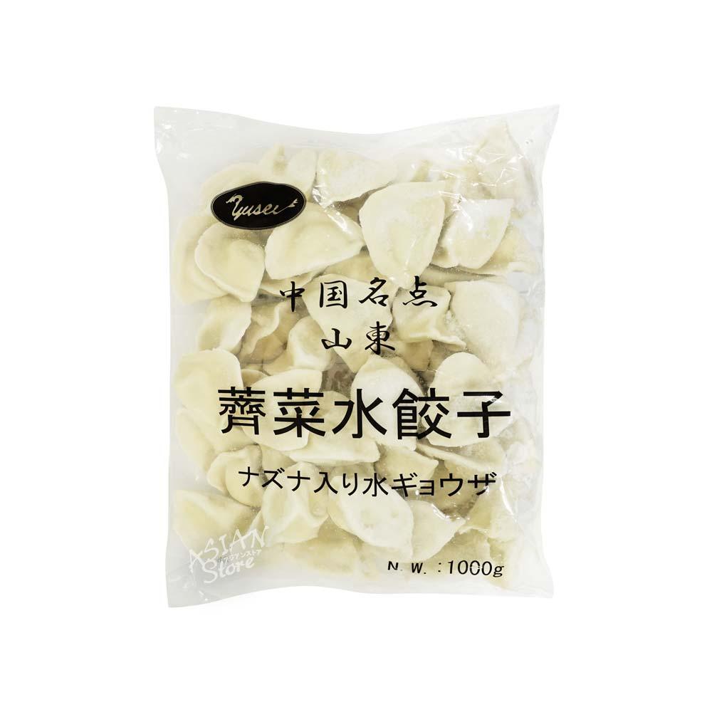 【冷凍便】ナズナ入り水餃子/中国名点山東薺菜水餃子1000g(約50個)