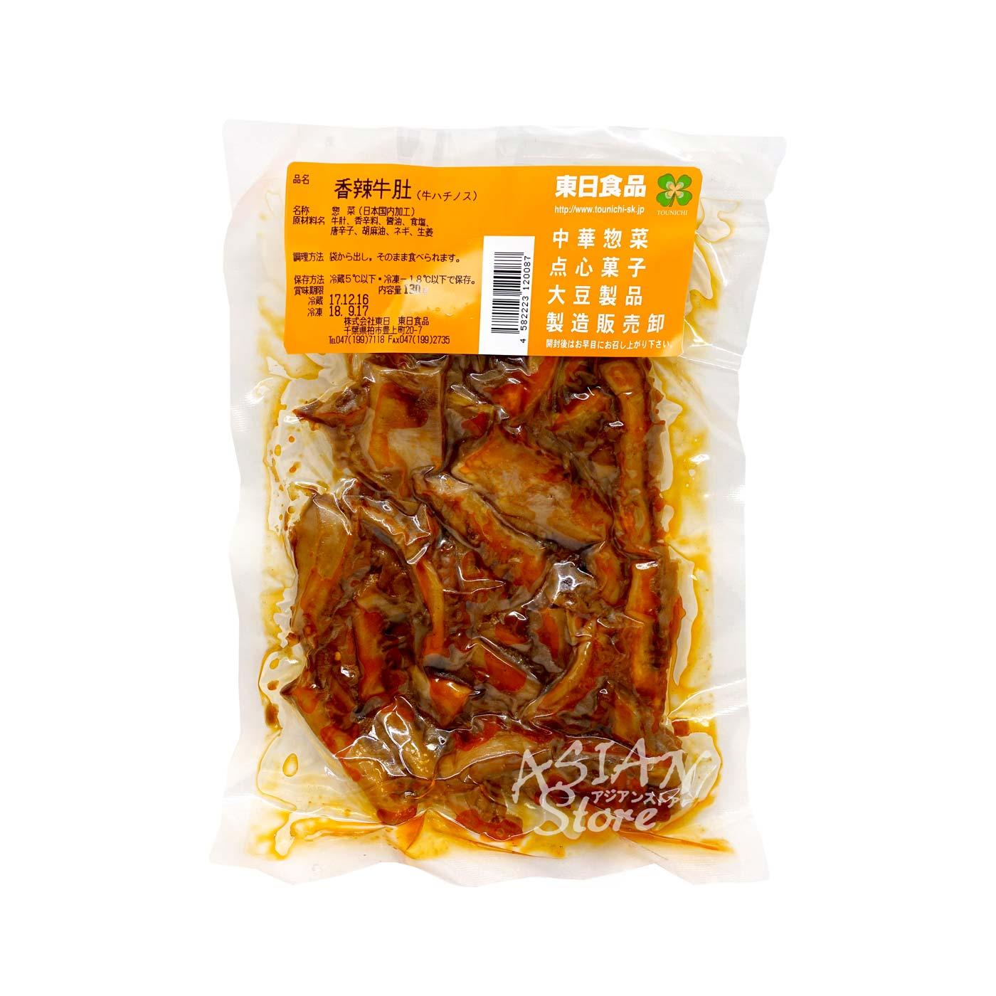 【冷蔵便】辛口牛ハチノススライス/東日牌香辣牛肚糸130g