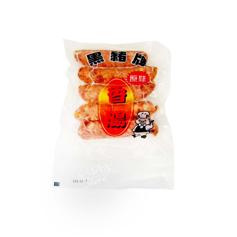 【冷凍便】台湾風味ソーセージ/黒猪牌原味香腸200g