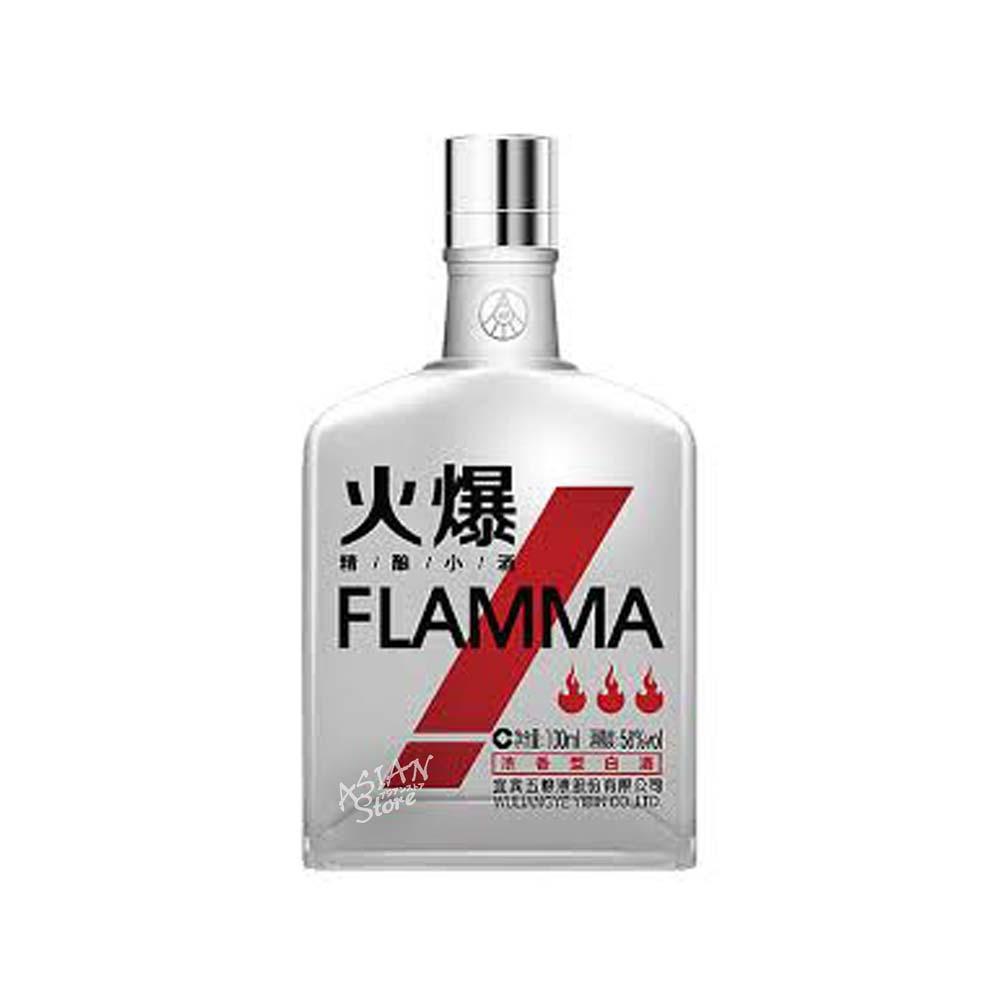 【常温便】【白酒】フォバオスピリッツ/FLAMMA火爆精醸小酒(濃香型)58度100ml(紅)