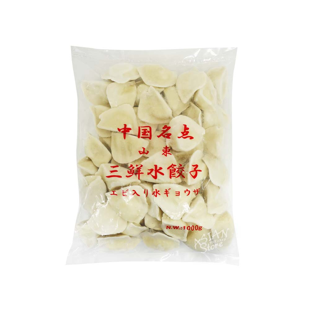 【冷凍便】エビ入り水餃子/中国名点山東三鮮水餃1000g(約50個)