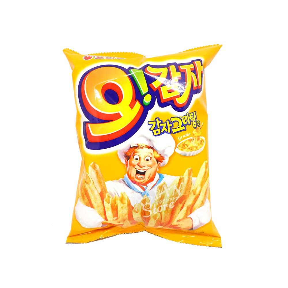【常温便】韓国オリオンオカムジャ グラタン味/好麗友空心薯条50g