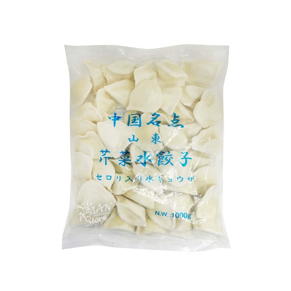 【冷凍便】セロリ入り水餃子/中国名点山東芹菜水餃子1000g(約50個)