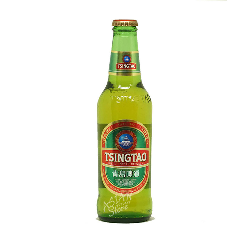 【常温便】【ビール】中国人気NO.1ビール チンタオビール瓶/青島ビール330ml瓶
