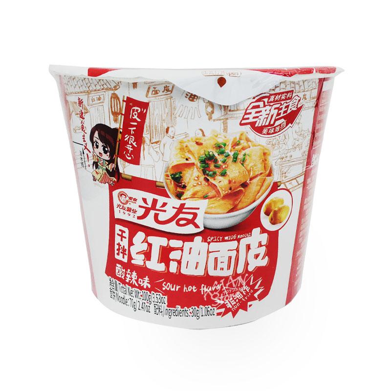 【常温便】即席中華めん(酸辣味)カップ/光友紅油面皮(酸辣味)100g