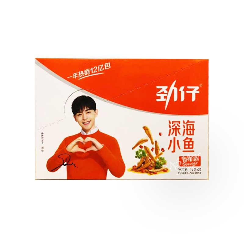【常温便】魚介乾製品(辛い味)/勁仔深海小魚(香辣味)240g1箱(12gx20個入)