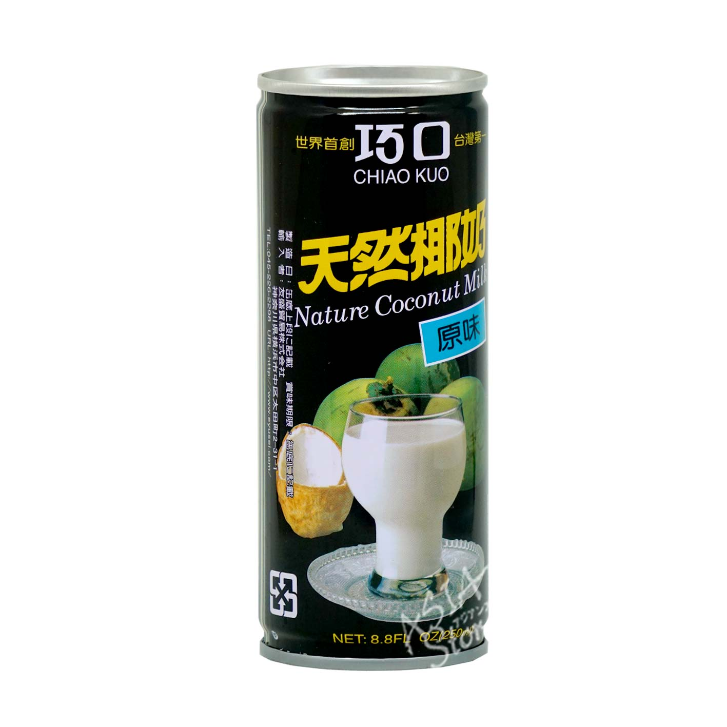 【常温便】天然ココナッツジュース/巧口天然椰子汁 250ml