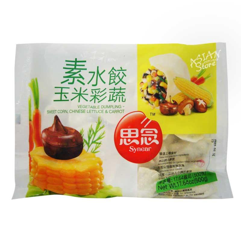 【冷凍便】野菜水餃子/思念玉米彩蔬素水餃 500g