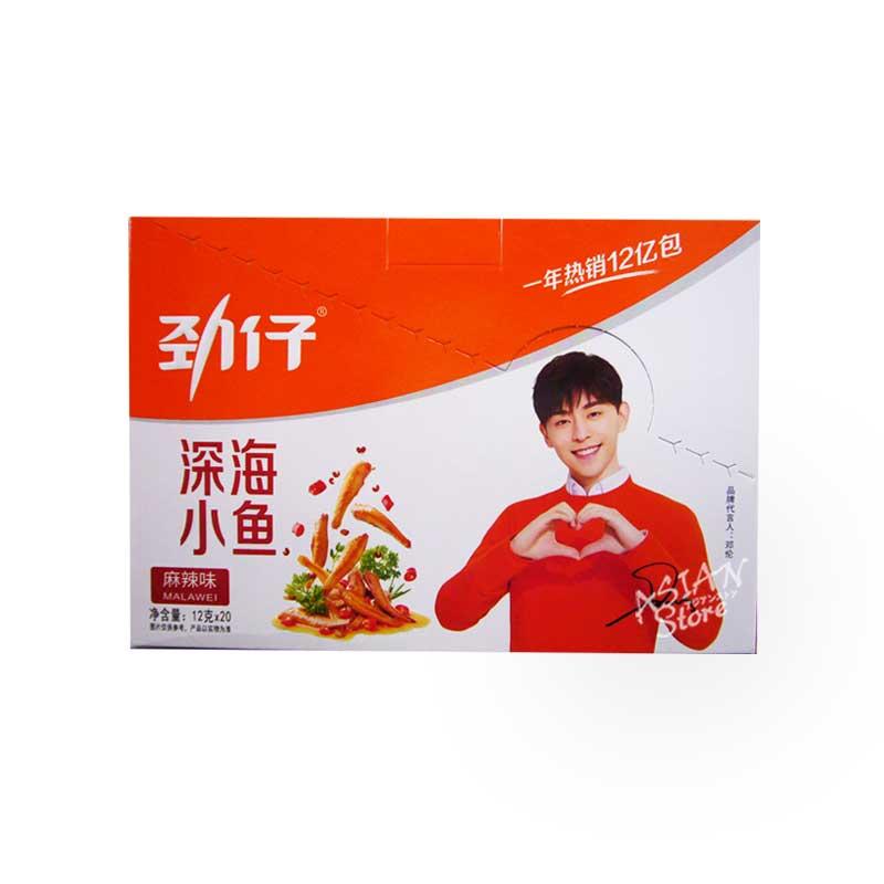 【常温便】魚介乾製品(マーラー味)/勁仔深海小魚(麻辣味)240g 1箱(12gx20個入)