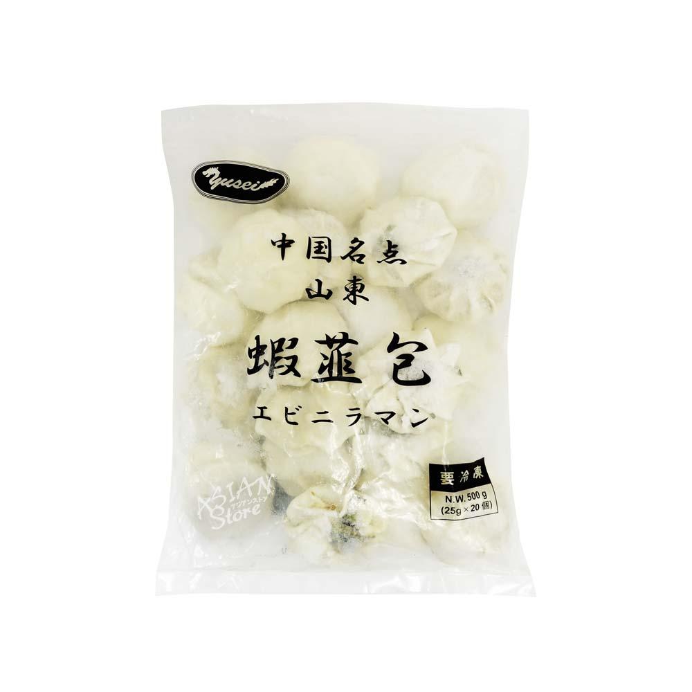 【冷凍便】エビニラまんじゅう/中国名点蝦仁韮菜饅頭500g(20個)