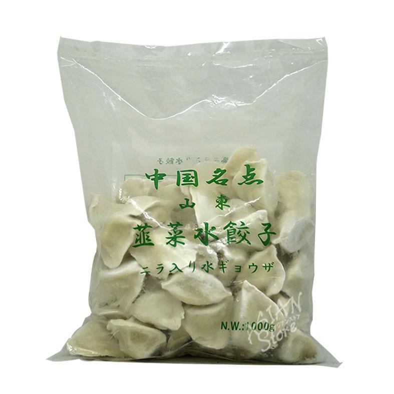【冷凍便】ニラ入り水餃子/中国名点山東韭菜水餃子1000g