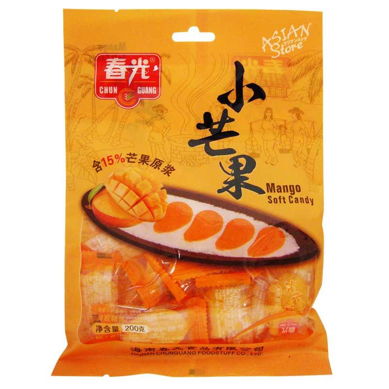 【常温便】マンゴーソフトキャンディー/春光小芒果 200g