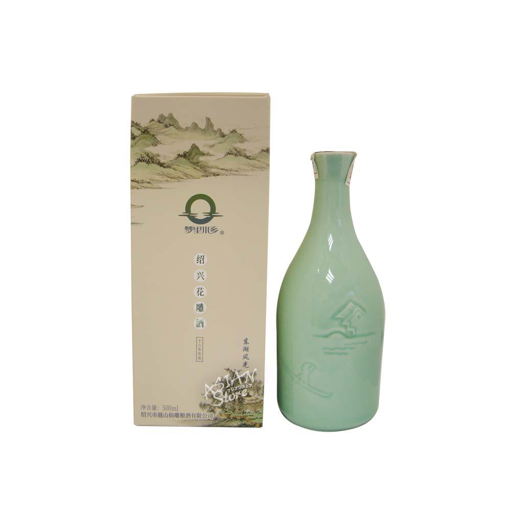 【常温便】【紹興酒】梦里水郷紹興花彫酒十二年陳醸500ml