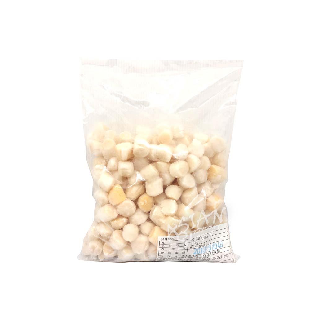 【冷凍便】冷凍イタヤ貝柱/冷凍小干丁貝1000g