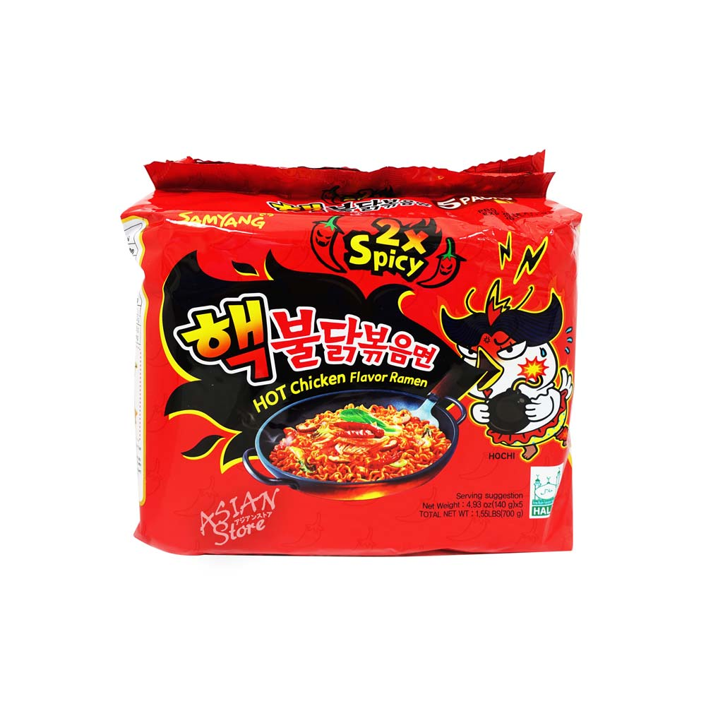 【常温便】韓国SAMYANGブルダック激辛ラーメン(2倍辛)/三養2倍辣核弾火鶏面700g(5袋)