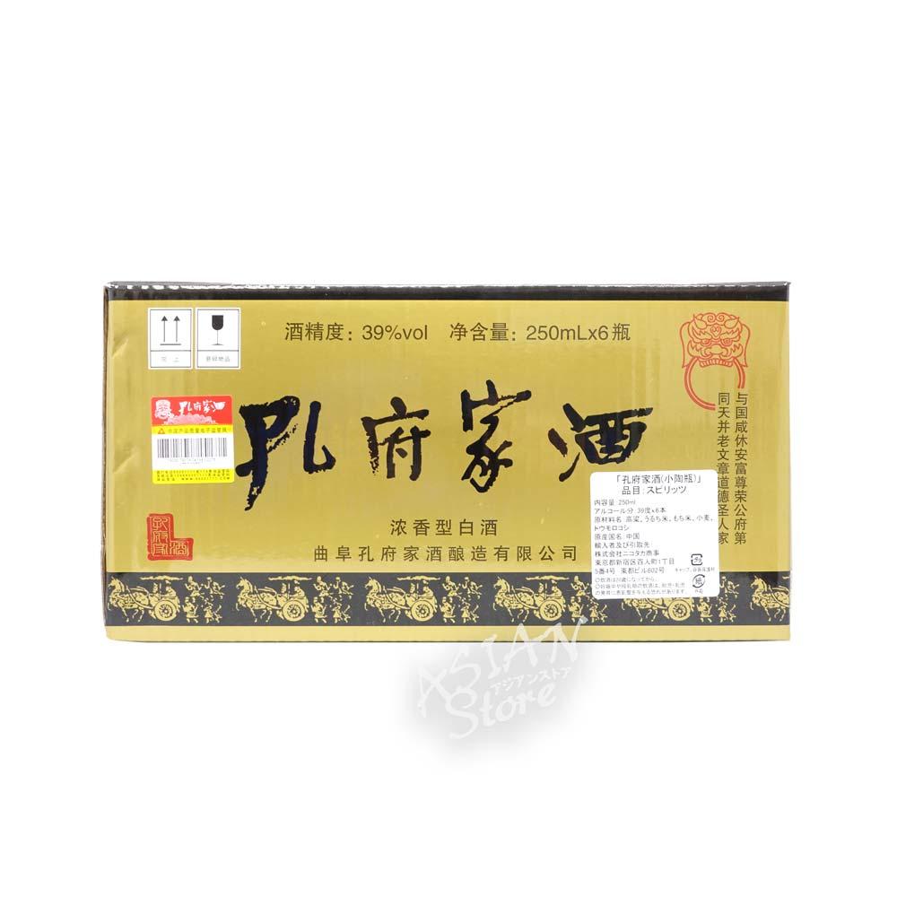 【常温便】【白酒】孔府家酒(小陶瓶化粧箱入り)39°/孔府家酒(小陶瓶装)39°250ml*6本